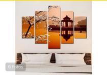 Quadro mosaico 5 peças japonês abstrato moderno painel para decoração de ambientes - Neyrad