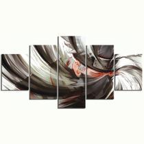 Quadro Mosaico 5 peças Kakashi Sharingan NARUTO Painel Decorativo Decoração de Interiores - Neyrad