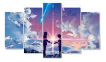 Quadro Mosaico 5 Peças Mdf 6mm - Anime Your Name - Neyrad