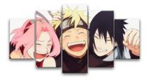 Quadro Mosaico 5 Peças Naruto Sakura Desenhos Animes Desenh - Neyrad