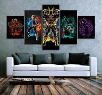 Quadro Mosaico 5 peças  Painel Boku Decorativo Decoração de Interiores - Neyrad