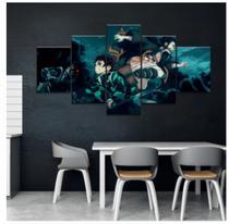Quadro mosaico 5 peças slayers anime abstrato moderno painel para decoração de ambientes - Neyrad