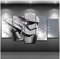 Quadro mosaico 5 peças star wars abstrato moderno painel para decoração de ambientes - Neyrad