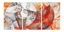 Quadro Mosaico Abstrato Em 3 Peças Para Escritório Hall - Neyrad