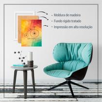 Quadro Mosaico Abstratos geométrico aquarela abstrato forma - Conspecto
