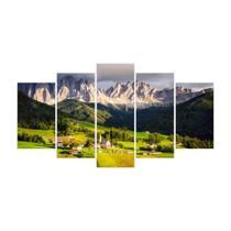 Quadro Mosaico de 5 peças Paisagens Mundiais 12 - New Decor