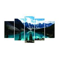 Quadro Mosaico de 5 peças Paisagens Mundiais 17 - New Decor
