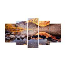 Quadro Mosaico de 5 peças Paisagens Mundiais 37 - New Decor