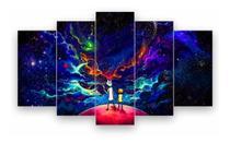 Quadro Mosaico Decoração 5 Peças Psicodélico Rick And Morty - Neyrad