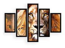 Quadro Mosaico Decorativo  Leão De Judá Pintura Cristo - Neyrad