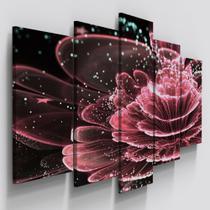 Quadro Mosaico Flor Lotus Digital Copa Quarto Sala - Neyrad