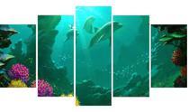 Quadro Mosaico Fundo do Mar 5 Peças - Olph Decor