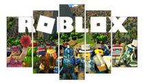 Quadro Mosaico Gamer 5 Peças Mdf Game Roblox Video Game - Neyrad
