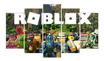 Quadro Mosaico Gamer 5 Peças Mdf Game Roblox Video Game - Premium Art Decoracoes