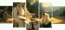 Quadro Mosaico Jesus Cristo - 5 peças - Católico Sou