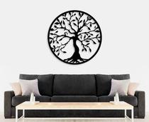 Quadro Mosaico Mandala Decorativo Árvore 45 Cm Preta+brinde - Inventto Studio