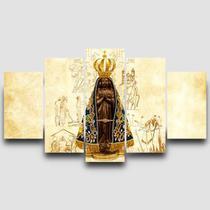 Quadro Mosaico Nossa Senhora Aparecida 5 peças - Católico Sou
