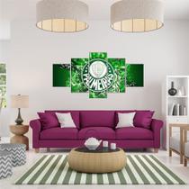Quadro Mosaico Palmeiras Medida 120x60 PVC 3mm Adesivo Impressão Digital Fosca - Tuim Adesivos