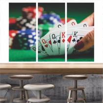 Quadro Mosaico Poker Baralho Para Decoração - Quadros Mais - Neyrad