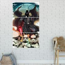 Quadro Mosaico Storm Troopers 3 Peças Para Decoração de Ambientes - Neyrad