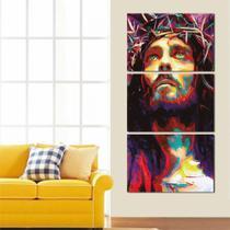 Quadro Mosaico Vertical Jesus Cristo, Religioso, Bíblia, Fé - Neyrad