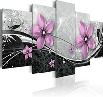 Quadro Mosaicos Flores Rose - Neyrad