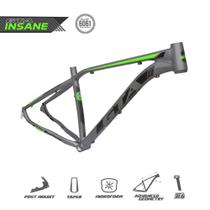 Quadro MTB GTA Insane aro 29 Alumínio - Grafite/Verde Neon -