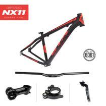 Quadro MTB GTA NX11 aro 29  Alumínio - Preto/Vermelho Fosco -