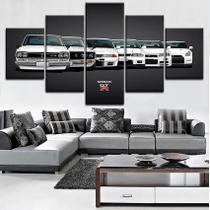 Quadro Nissan Skyline Gtr R34 5 Peças Mosaico - Premium Art Decoracoes