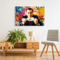 Quadro O Lobo De Wall Street The Wolf of Wall Street  Efeito Pintura Decorativo - Bimper