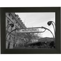 Quadro P&B Contemporâneo Metropolitan 18 x 23 cm Preto - Kapos
