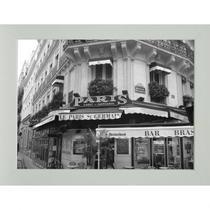 Quadro Paris Contemporâneo 23 x 28 cm Branco - Kapos