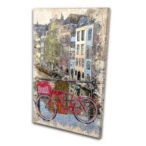 Quadro Pintura Cidade Bicicleta na Ponte Europa - Podium