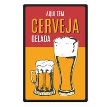 Quadro Placa Decorativa - Frases - Aqui Tem Cerveja - Maison de lele