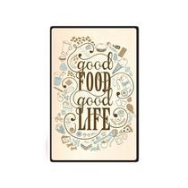 Quadro Placa Decorativa - Frases - Good Food - Maison de lele
