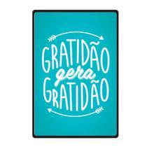 Quadro Placa Decorativa - Frases - Gratidão - Cia Laser