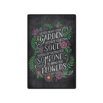 Quadro Placa Decorativa - Frases - Jardim Preto - Maison de lele
