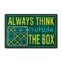 Quadro Placa Decorativa - Frases - Outside Box - Maison de lele
