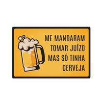 Quadro Placa Decorativa - Frases - So Tinha Cerveja - Colorido - 19,5x29,5cm - Encaixo