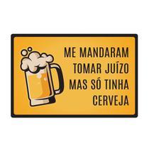 Quadro Placa Decorativa - Frases - So Tinha Cerveja - Maison de lele