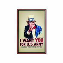 Quadro Placa Decorativa - I Want You - Maison de lele