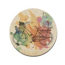 Quadro Placa Decorativa Redonda - Bicicleta Aquarela - Maison de lele