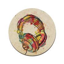 Quadro Placa Decorativa Redonda - Fone de Ouvido - Maison de lele