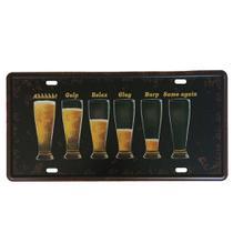 Quadro Placa Metal Decorativa Vintage Chopp Cerveja Beer 15x30 - DA