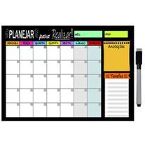 Quadro Planejador de Metal Mensal 20x26cm + Caneta - Ideal Planners