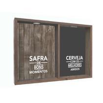 Quadro Porta Rolhas Safira Madeira - Kapos