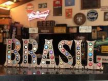 Quadro Porta-Tampinhas Alfabeto Wood - Kit 6 letras - Wood And Beer