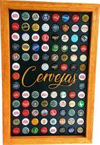 Quadro Porta Tampinhas cerveja coleção linha master 90 furos presente - Co2Beer -