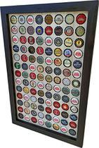 Quadro Porta Tampinhas cerveja coleção linha master moldura preto 104 furos presente - Co2Beer -