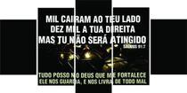 Quadro Salmo 91 Moderno 5 Peças Mosaico - Premium Art Decoracoes